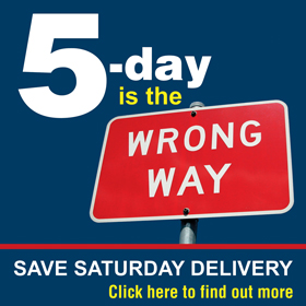 5-day is the wrong way, save saturday delivery